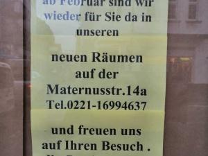 Wir sind innerhalb von Rodenkirchen umgezogen!